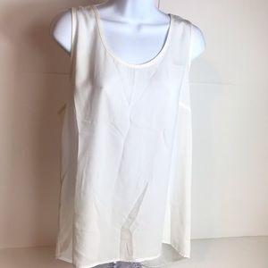 Pleione Anthropologie silky sleeveless top